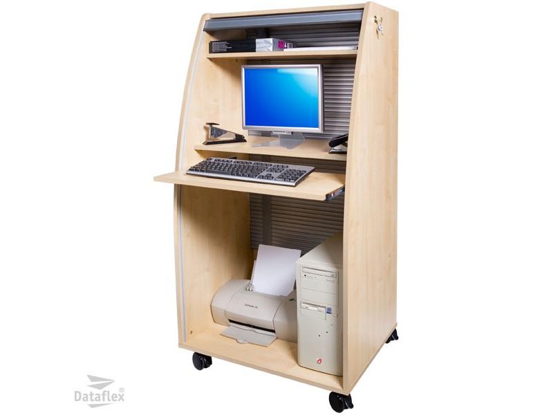Dataflex Computer Cabinet aluminium/maple (80.902)<buy online ...